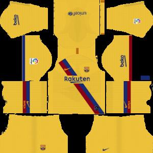 dream league soccer barcelona away kit 2020