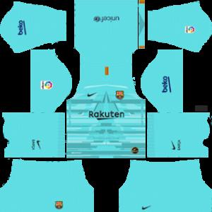 dream league soccer fc barcelona home goalkeeper kit url