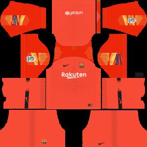 dream league soccer goalkeper third custom kits barcelona