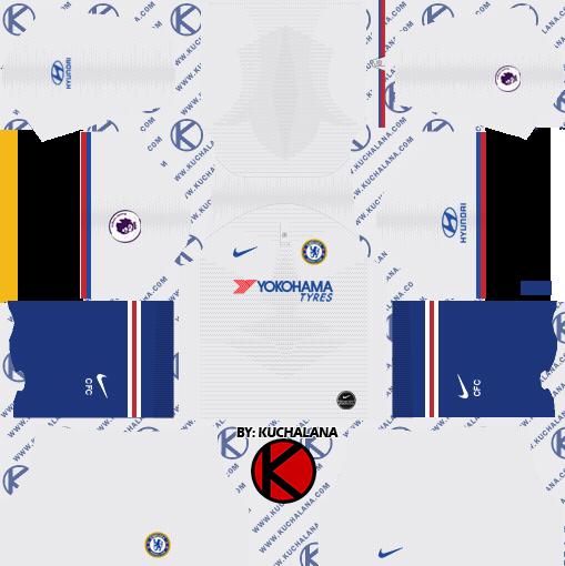 kit dream league soccer 2020 chelsea away
