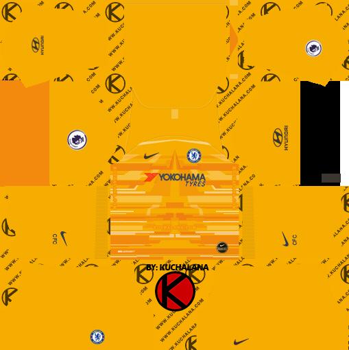 chelsea goalkeeper home kit dream league soccer 2020 DLS