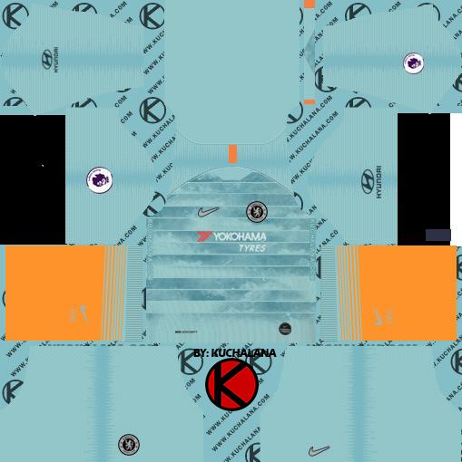 chelsea goalkeeper third kit dream league soccer 2020