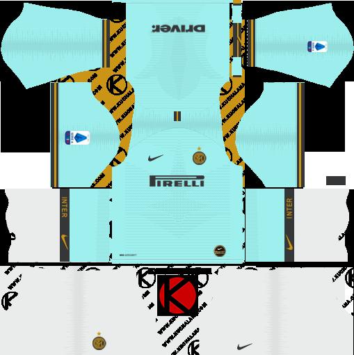 dls inter milan fc away third kit