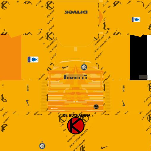 goalkeeper home jersey kit inter milan dream league soccer