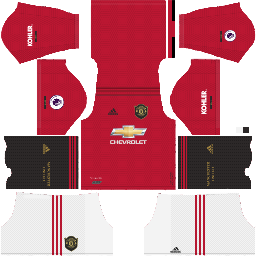 manchester united home kit dream league soccer 2020