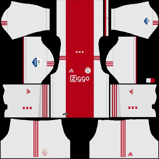 Home kit ajax amsterdam dream league soccer kits
