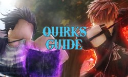 Roblox Anime fighting simulator Quirks Guide with quirk List