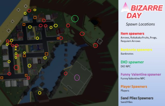 a bizarre day spawn locations tier list guide