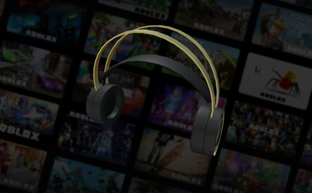 KSI Free Golden Headphones Item Roblox